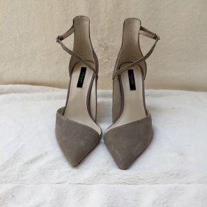 Zara suede cutout heels; size 37